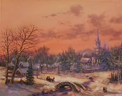 Snow Scene Painting - American Classic by Tom Shropshire