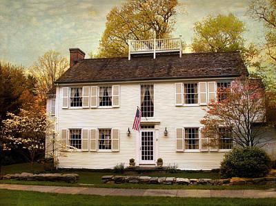 Shutters Digital Art - American Colonial by Jessica Jenney