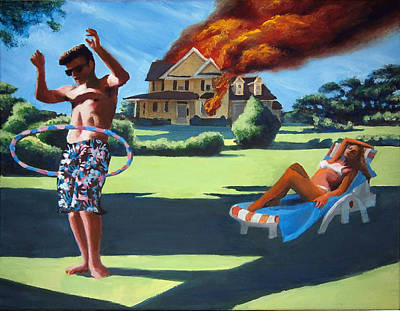 Painting - American Couple Redux by Geoff Greene