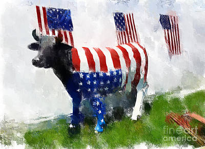 Photograph - American Cow by Eleanor Abramson