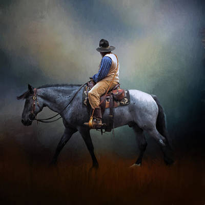 Photograph - American Cowboy by David and Carol Kelly
