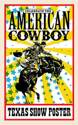 Painting - American Cowboy by Gary Grayson