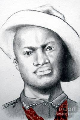 Drawing - American Cowboy by Jayne Somogy