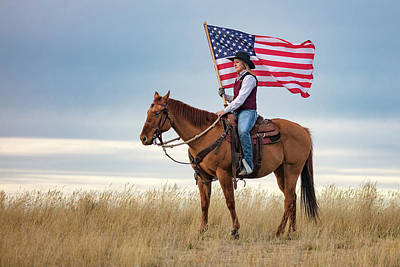 American Cowgirl Art Print by Todd Klassy