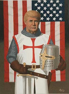 Painting - American Crusader by Michael Di Nunzio