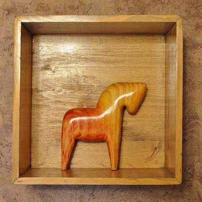 Installation Mixed Media - American Dala Horse In Red And Yellow No. 2 by Adam Riggs