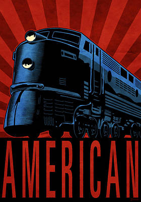 Cartoonist Digital Art - American by Daviz Industries