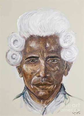 Obama Painting - American Dream by Heather Goldstein
