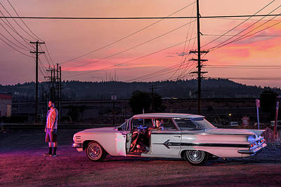Photograph - American Dreamscapes Chevy Impala 1960 by Christian Heeb