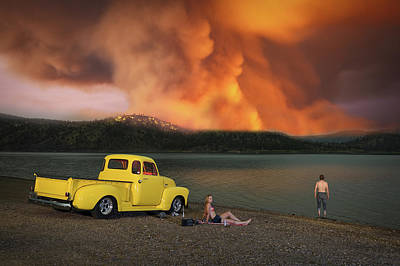 Photograph - American Dreamscapes Wildfire by Christian Heeb