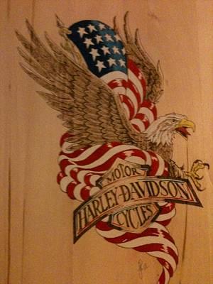 John Pitre Pyrography - American Eagle by John Pitre