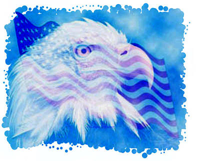 Painting - American Eagle by Monique Montney