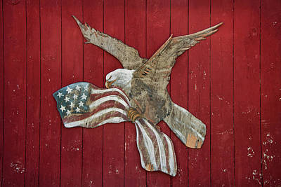 Photograph - American Eagle Patriotic Art by Joann Vitali