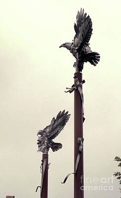 Photograph - American Eagle Sculpture by Margie Avellino