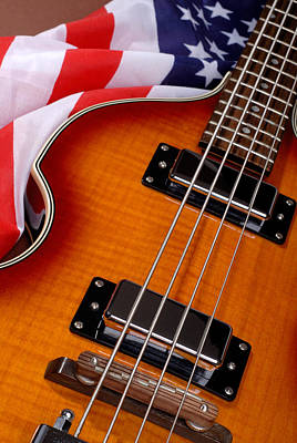Paul Mccartney Hofner Bass Photograph - American Electric Rock Guitar by Norman Pogson