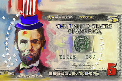 Currency Painting - American Engravings 456 I by Mawra Tahreem