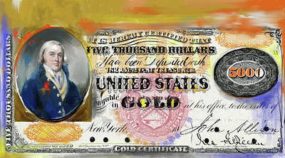 Currency Painting - American Engravings I 454 I by Mawra Tahreem
