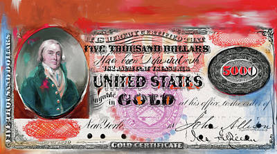 Currency Painting - American Engravings I 454 IIi by Mawra Tahreem