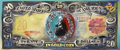 Currency Painting - American Engravings II 455 I by Mawra Tahreem