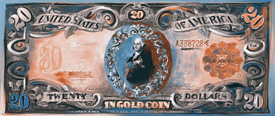 Currency Painting - American Engravings II 455 Iv by Mawra Tahreem