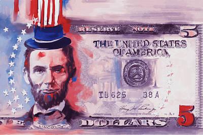 Currency Painting - American Engravings IIi 456 II by Mawra Tahreem