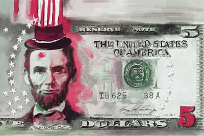 Currency Painting - American Engravings IIi 456 IIi by Mawra Tahreem
