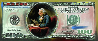 Currency Painting - American Engravings Iv 457 I by Mawra Tahreem
