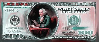 Currency Painting - American Engravings Iv 457 II by Mawra Tahreem