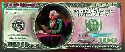 Currency Painting - American Engravings Iv 457 IIi by Mawra Tahreem