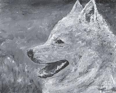American Eskimo Dog Painting - American Eskimo Dog - Spitz by Jennifer Gonzalez