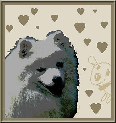 American Eskimo Art Print by One Rude Dawg Orcutt