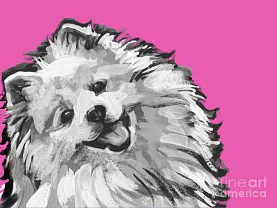 Painting - American Eskimo Pooch by Lea