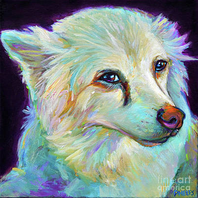 Painting - American Eskimo by Robert Phelps