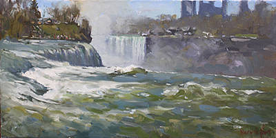 American Falls Art Print by Ylli Haruni