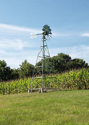 American Farm Wind Pump Art Print