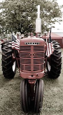 Photograph - American Farmall Head On by Meagan  Visser