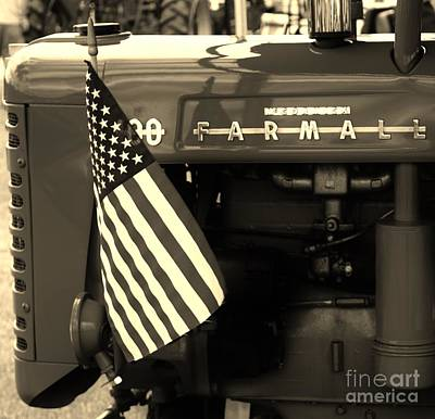 Photograph - American Farmall by Meagan  Visser
