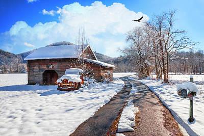 Photograph - American Farmland In Winter by Debra and Dave Vanderlaan