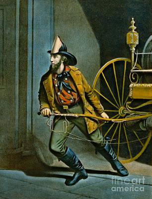 American Fireman 1858 Art Print by Padre Art