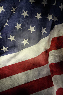 Photograph - American Flag 7 by Les Cunliffe