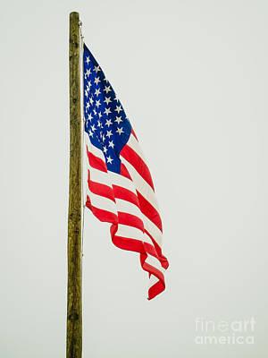 American Flag - A Art Print by Debra Martz