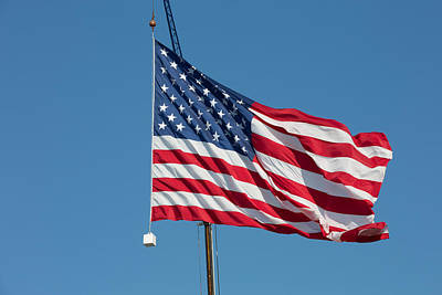 Photograph - American Flag by Allan Morrison