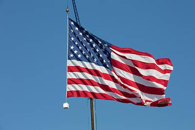 Photograph - American Flag by Allan Morrison