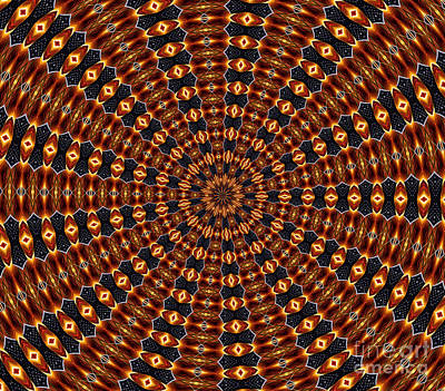 Photograph - American Flag And Fireworks Kaleidoscope Abstract 3 by Rose Santuci-Sofranko