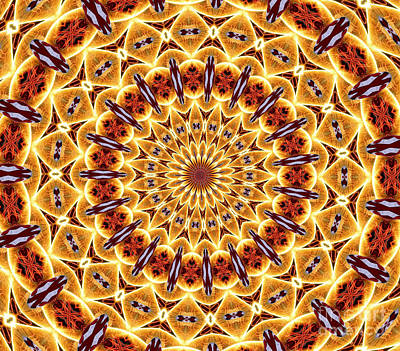 Photograph - American Flag And Fireworks Kaleidoscope Abstract 4 by Rose Santuci-Sofranko