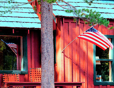 Photograph - American Flag And Reflection by Marcia Socolik