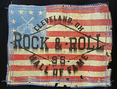 Photograph - American Flag And The Rock And Roll Hall Of Fame by Rob Hans