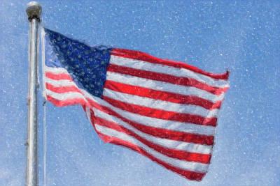 Digital Art - American Flag Artwork by Jill Lang