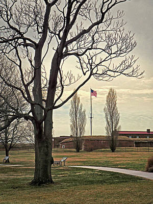 Photograph - American Flag At Fort Mchenry by Bill Swartwout