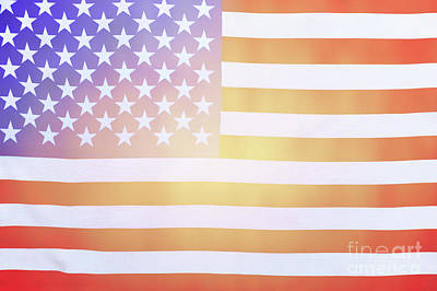 Photograph - American Flag Background by Anna Om